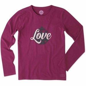 Life is Good Love Ornament Long Sleeve Shirt